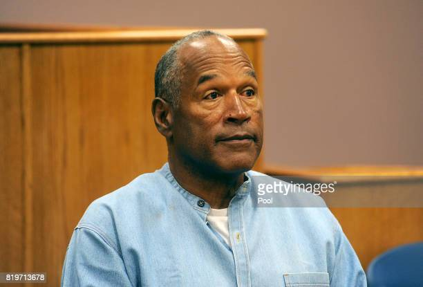 Simpson attends his parole hearing at Lovelock Correctional Center July 20, 2017 in Lovelock, Nevada. Simpson is serving a nine to 33 year prison...