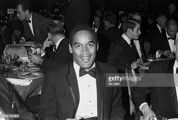 O J Simpson in a tux at a formal dinner circa 1970 New York