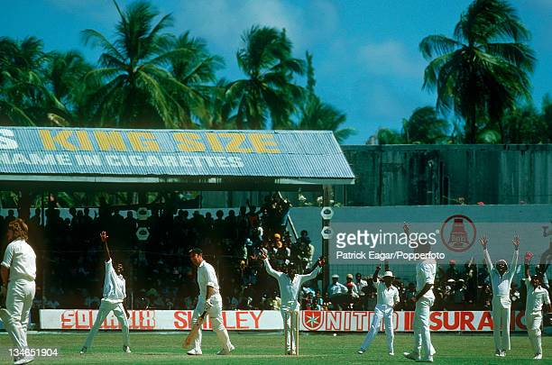 Simpson is caught Murray bowled Croft West Indies v Australia 2nd Test Bridgetown March 197778