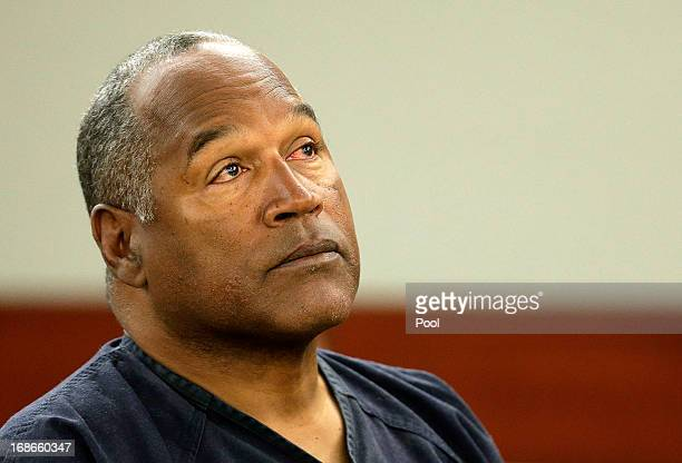 J Simpson listens to testimony at an evidentiary hearing in Clark County District Court May 13 2013 in Las Vegas Nevada Simpson who is currently...