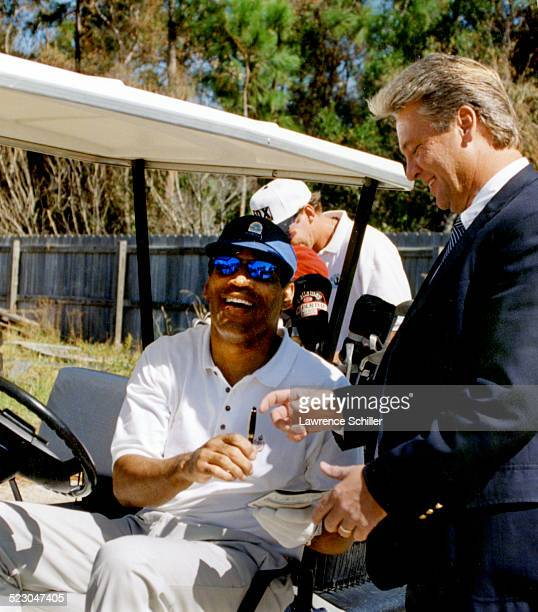 Simpson on the golf course in Florida weeks after his acquittal.