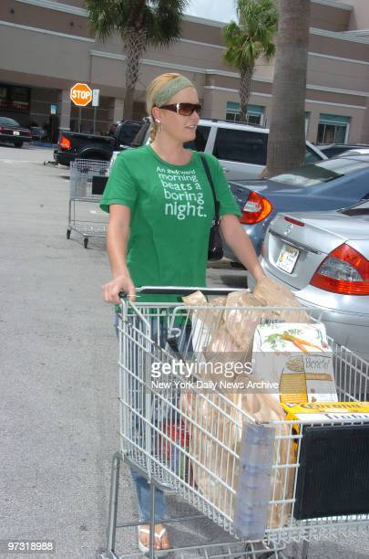 J Simpson Out of Jail and now at home In Kendel Florida OJ's girlfriend Christie Prody after a morning of groceries shopping at Publix in the Kendal...