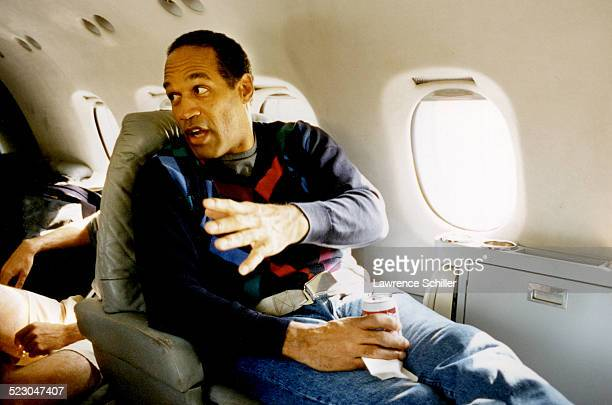 J Simpson several weeks after his acquittal traveling to Florida on a private jet