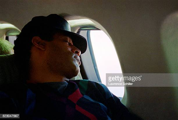Simpson, several weeks after his acquittal, traveling to Florida on a private jet.