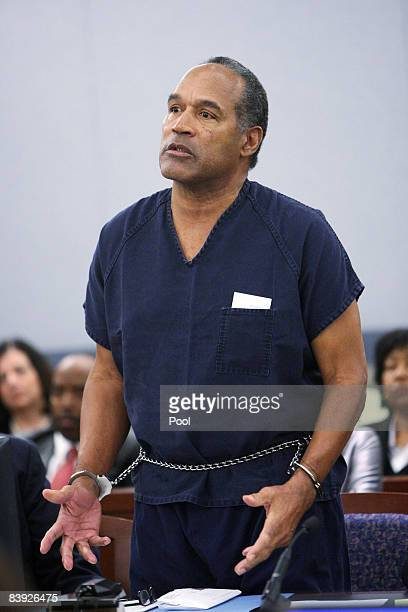 J Simpson speaks in court prior to his sentencing at the Clark County Regional Justice Center December 5 2008 in Las Vegas Nevada Simpson and...