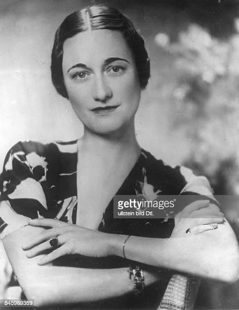 Simpson Wallis *19061896Herzogin von Windsor USAverheiratet mit Edward VIII von GB seit 1936 Portrait heiratete 1936 in 3 Ehe Koenig EdwardVIII von...