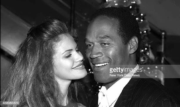 OJ Simpson with Elite Model Paul Barbieri at Banana Cafe on East 22nd Street NYC