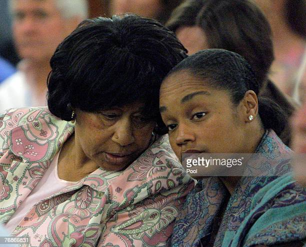 J Simpson's sister Mattie Shirley Simpson Baker and daughter Arnelle Simpson attend the former football star's court appearance on charges which...