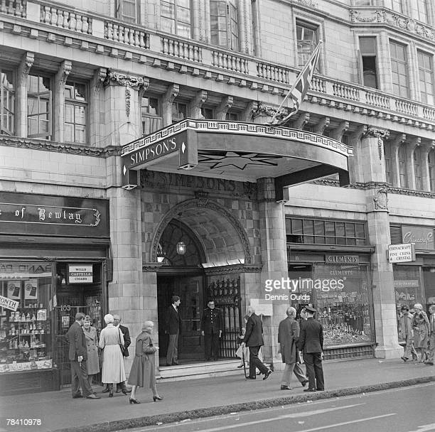 Simpson'sintheStrand a renowned restaurant in the Strand London 4th November 1978 The venue can boast such distinguished former patrons as Dickens...