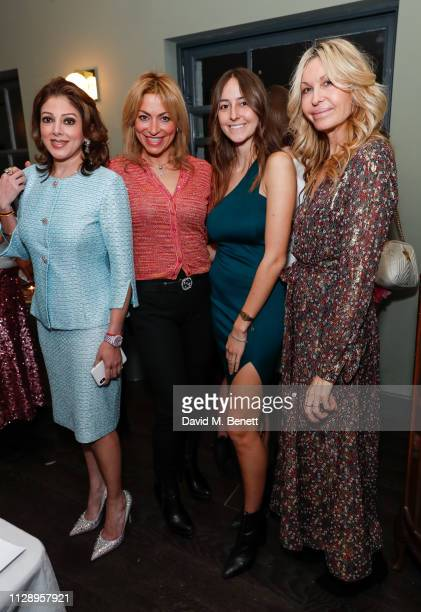 Simran Kanwar Affef AdelYearsley Alaia De Santos Odabash and Melissa Odabash attend the mothers2mothers International Women's Day dinner hosted by...