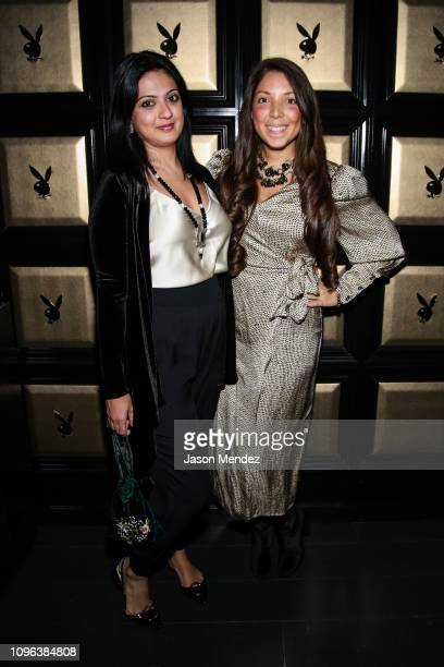 Simran Kochar and Heather Grabin at Playboy Club New York on February 8 2019 in New York City