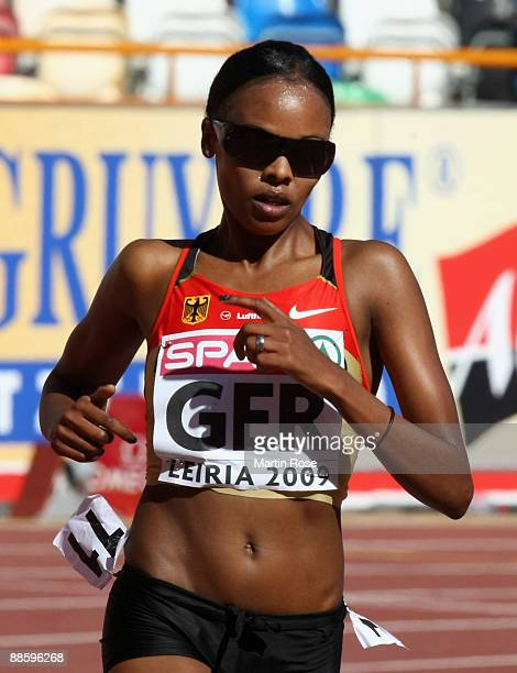 Simret Restle of Germany competes during the women's 3000m during day one at the Spar European Team Championship at the Estadio Municipal DrMagalhaes...