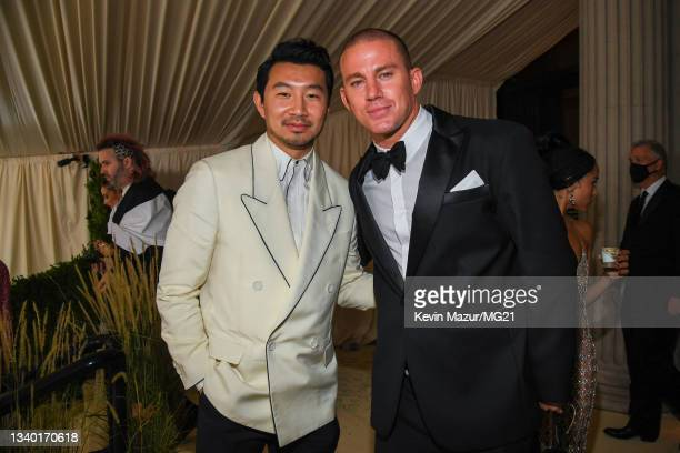 Simu Liu and Channing Tatum depart The 2021 Met Gala Celebrating In America: A Lexicon Of Fashion at Metropolitan Museum of Art on September 13, 2021...
