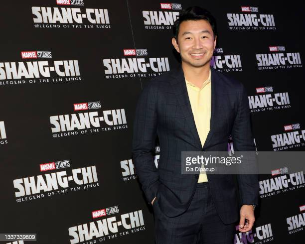 """Simu Liu attends the """"Shang-Chi And The Legend Of The Ten Rings"""" New York Screening at Regal Union Square on August 30, 2021 in New York City."""