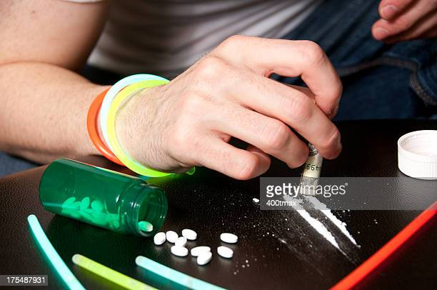 Simulated drug abuse concept