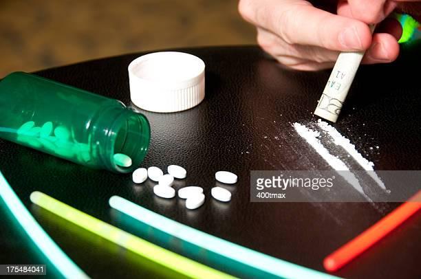 Simulated drug addiction concept