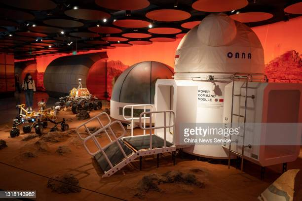 Simulated Mars base is on display at the SKP-S shopping mall on May 15, 2021 in Beijing, China.