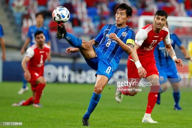 Sin Jin Ho of Ulsan Hyundai during the AFC Champions League final between Persepolis and Ulsan Hyundai at the Al Janoub Stadium on December 19, 2020...