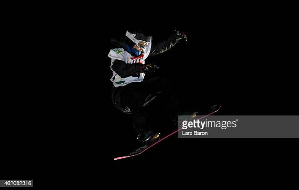 Sina Candrian of Switzerland competes during the Women's Big Air Finals during the FIS Freestyle Ski and Snowboard World Championships 2015 on...