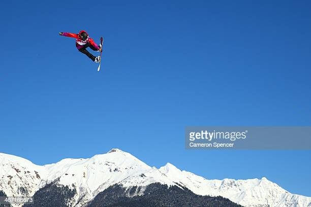 Sina Candrian of Switzerland competes in the Women's Slopestyle Qualification during the Sochi 2014 Winter Olympics at Rosa Khutor Extreme Park on...
