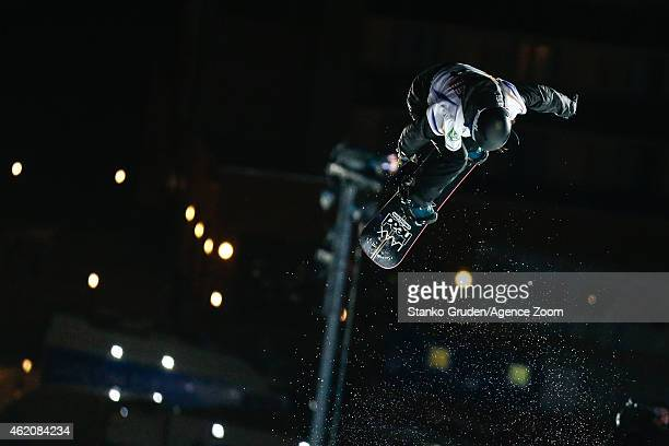 Sina Candrian of Switzerland takes 3rd place during the FIS Snowboard World Championships Men's Big Air on January 24 2015 in Kreischberg Austria