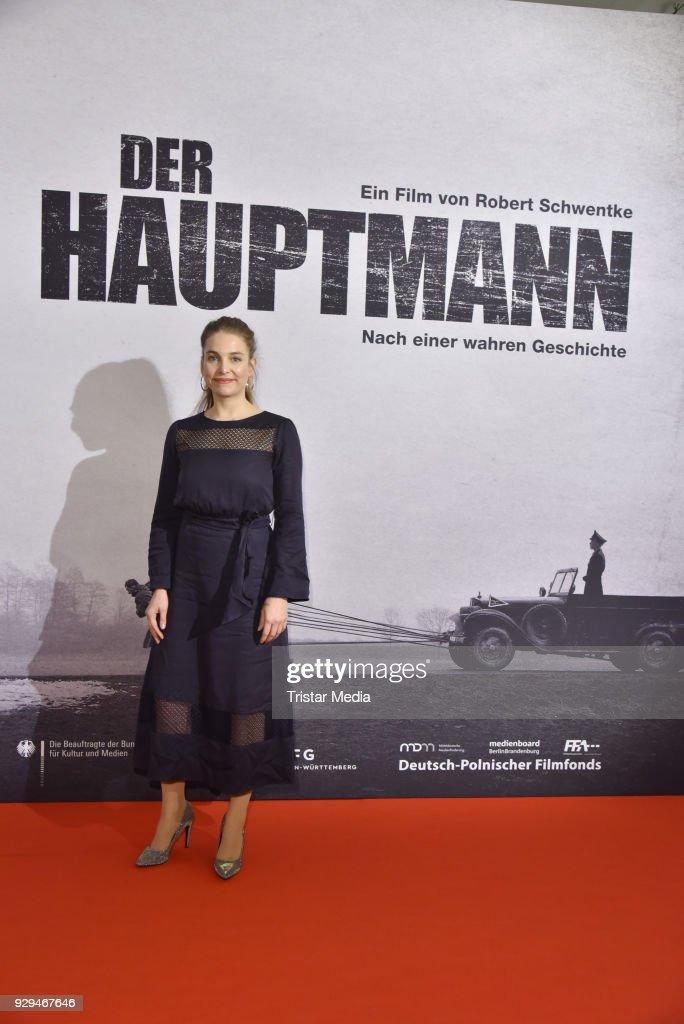Sina Martens attends the premiere of 'Der Hauptmann' at Kino International on March 8, 2018 in Berlin, Germany.