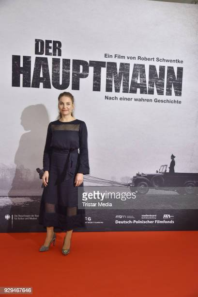 Sina Martens attends the premiere of 'Der Hauptmann' at Kino International on March 8 2018 in Berlin Germany