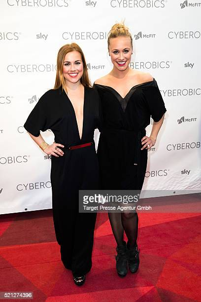 Sina Tkotsch and her sister Sarah Tkotsch attend the 'World of Cyberobics' presentation on April 14 2016 in Berlin Germany