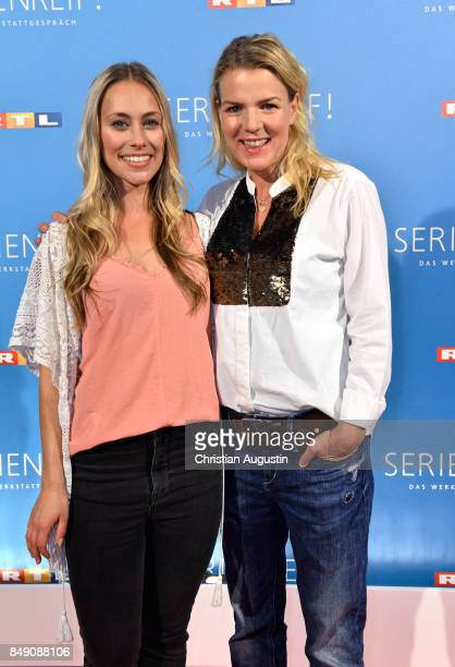 Sina Tkotsch and Mirja Boes attend 'RTL Serienreif' Press Talk and Photcall at Trend Kueche und Club on September 18 2017 in Hamburg Germany