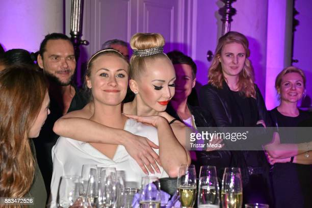 Sina Tkotsch and Olivia Jane Johnson attend the exhibition opening 'Sound of Passion' at Hotel De Rome on November 30 2017 in Berlin Germany