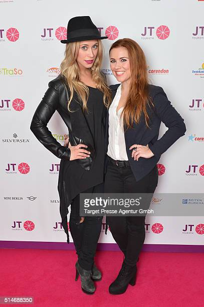Sina tkotsch and Sarah Tkotsch attend the JT Touristik Celebrates ITB Party at Soho House on March 10 2016 in Berlin Germany