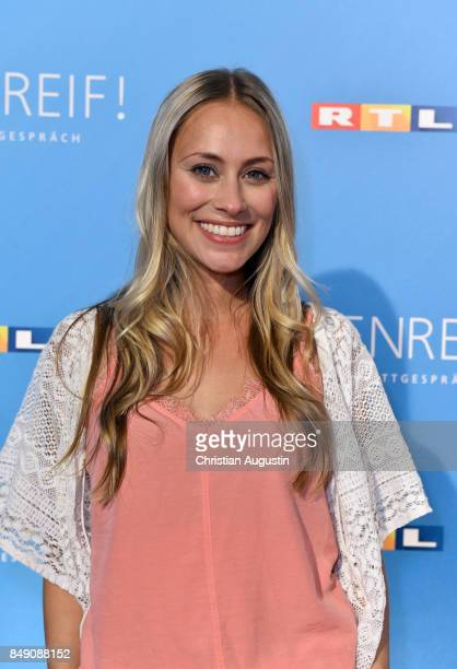 Sina Tkotsch attends 'RTL Serienreif' Press Talk and Photcall at Trend Kueche und Club on September 18 2017 in Hamburg Germany