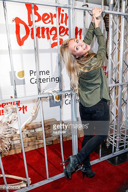 Sina Tkotsch attends the Premiere Of 'Exitus' FreefallTowers At Berlin Dungeon on March 16 2016 in Berlin Germany