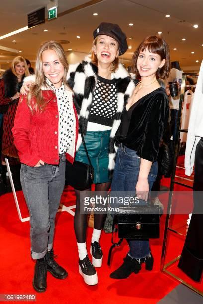 Sina Tkotsch Caro Cult and Amelie Plaas Link during the Monaco Baby Goes 030 BUNTE At KaDeWe Berlin on November 15 2018 in Berlin Germany