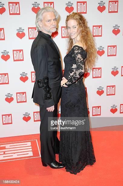 Sina Valeska Jung and Hermann Buehlbecker attend 'Ein Herz Fuer Kinder Gala 2012' Red Carpet Arrivals at Axel Springer Haus on December 15 2012 in...