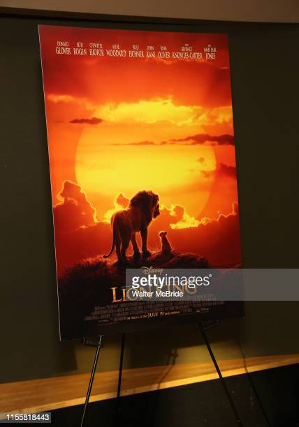 Sinage/poster at the Broadway screening of the Motion Picture Release of The Lion King at AMC Empire 25 on July 15 2019 in New York City