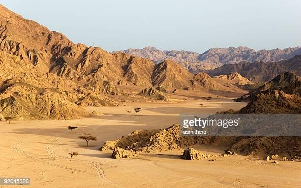 e le montagne del deserto del sinai, egitto - sharm el sheikh foto e immagini stock