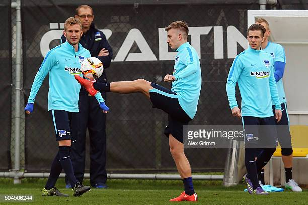 Sinan Kurt juggles with the ball during a Hertha BSC Berlin training session on day 6 of the Bundesliga Belek training camps at Gloria Sports Center...
