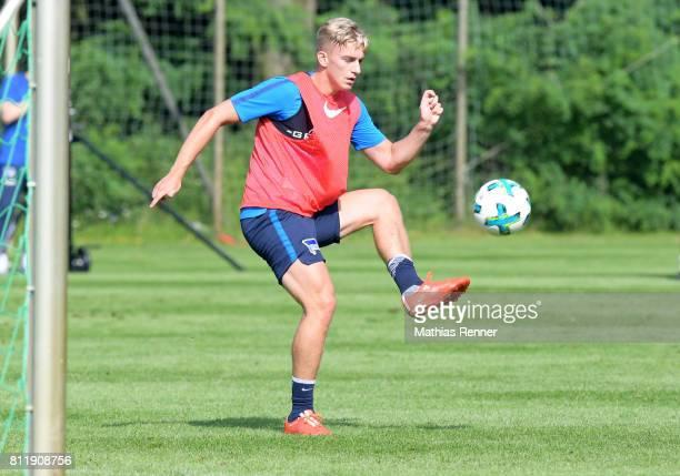 Sinan Kurt of Hertha BSC during a training camp on July 10 2017 in Bad Saarow Germany