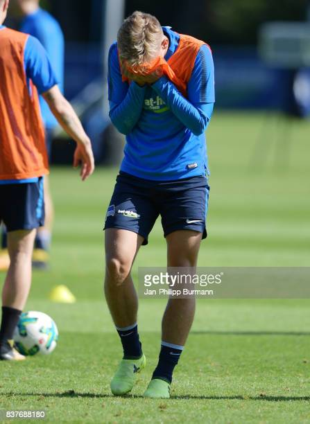 Sinan Kurt of Hertha BSC during the training on august 23 2017 in Berlin Germany