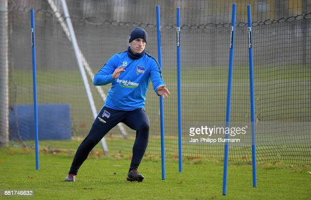 Sinan Kurt of Hertha BSC during the training on November 29 2017 in Berlin Germany