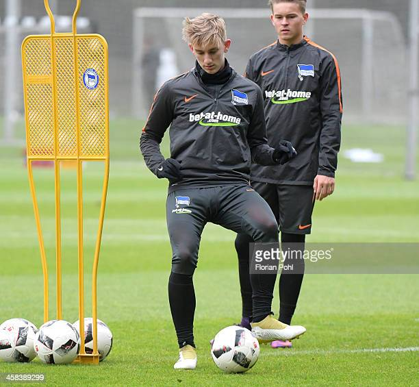 Sinan Kurt of Hertha BSC during the training session on October 17 2016 in Berlin Germany