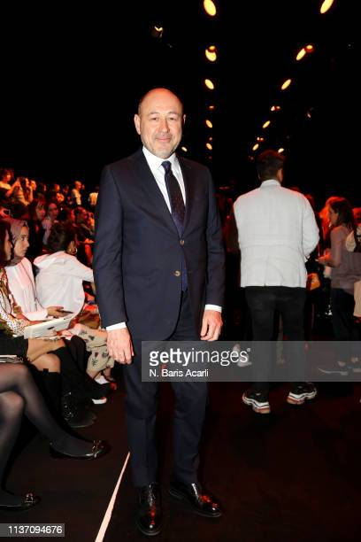 Sinan Oncel attends the MercedesBenz Fashion Week Istanbul March 2019 at Zorlu Center on March 20 2019 in Istanbul Turkey