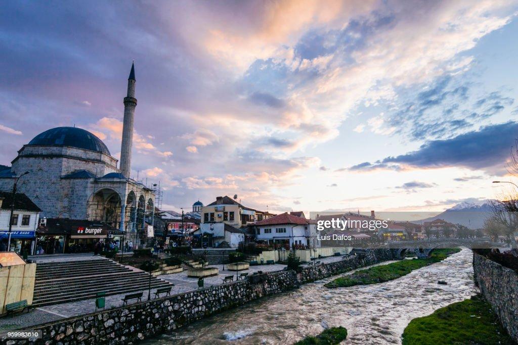 Sinan Pasha Mosque at sunset : Stock-Foto