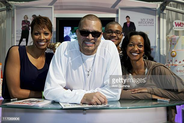 Sinbad Adkins with his wife Meredith and son Royce daughter Paige Bryan will star in Sinbad It's just Familyseen here at the LA Convention Center...