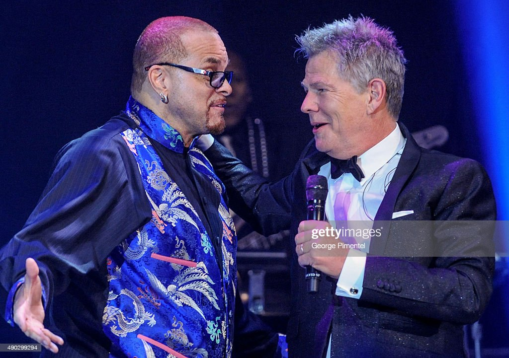 Sinbad and David Foster attend the David Foster Foundation Miracle Gala And Concert held at Mattamy Athletic Centre on September 26, 2015 in Toronto, Canada.