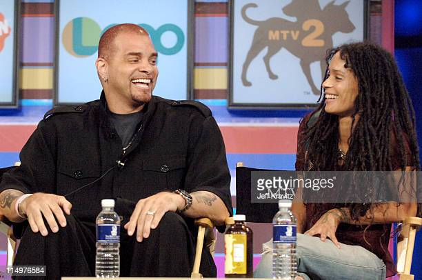 Sinbad and Lisa Bonet of 'A Different World' during Comedy Central TVLand Nick and Nickelodeon Summer 2006 TCA Press Tour Panel at RitzCarlton Hotel...