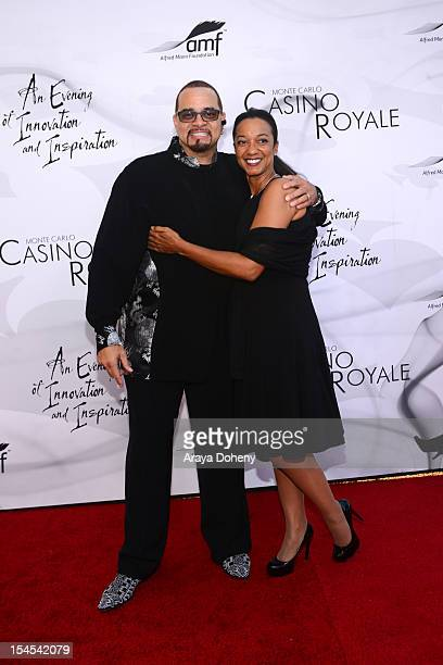 Sinbad and Meredith Adkins attend the 9th Annual Alfred Mann Foundation 'Innovation And Inspiration' Gala at The Barker Hanger on October 21 2012 in...