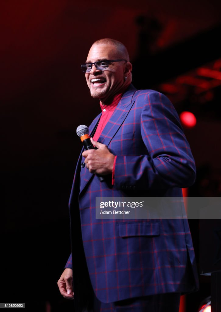 Sinbad takes the stage at the 2017 Starkey Hearing Foundation So the World May Hear Awards Gala at the Saint Paul RiverCentre on July 16, 2017 in St. Paul, Minnesota.