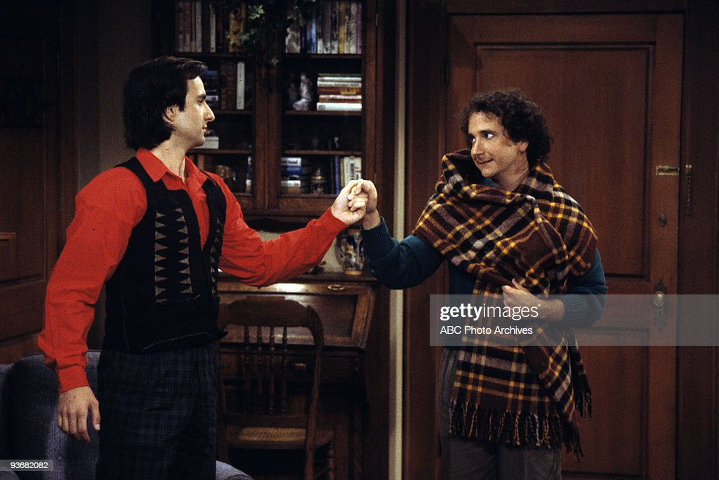 STRANGERS - 'Since I Lost My Baby' - Season Two - 1/14/87, Balki (Bronson Pinchot) and Larry (Mark Linn-Baker) try to get Mr. Twinkacetti and Edwina back together.,